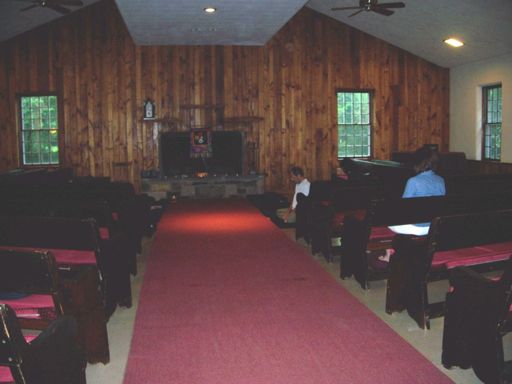 Meditation Hall has both benches and a about 20 meditation cushions.